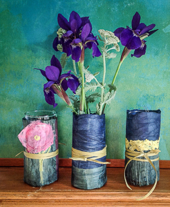 Kozo Wrapped Vases 1